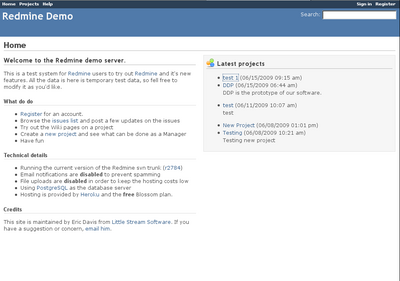 Redmine Demo at http://demo.redmine.org